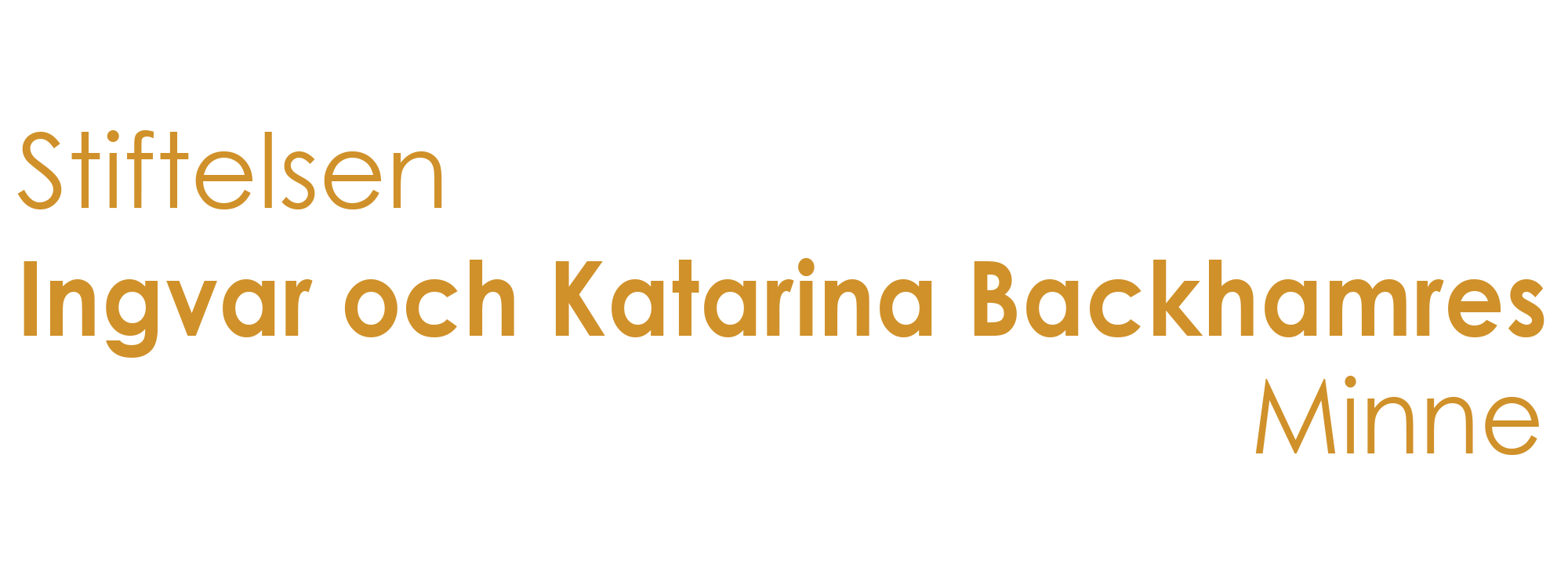 Stiftelsen Ingvar och Katarina Backhamres Minne